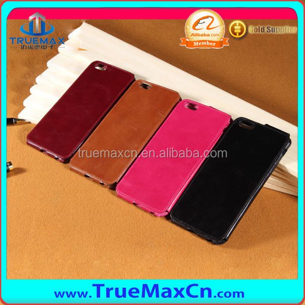 new arrival genuine leather case for iphone6, for iPhone 6 plus flip leather case