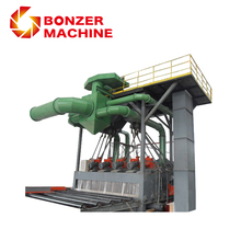 Q69 Steel Plate And Section Dustless Shot Blasting Machine
