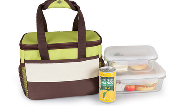wholesale canvas kids freezable thermal insulated lunch bag for office