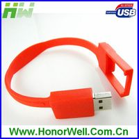Silicon bracelet usb pen drive with custom logo 4GB 8GB 16GB 32GB for gift or use