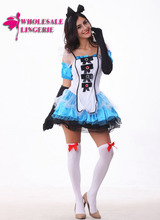 Girls Cute Fairy Tale Alice Costume