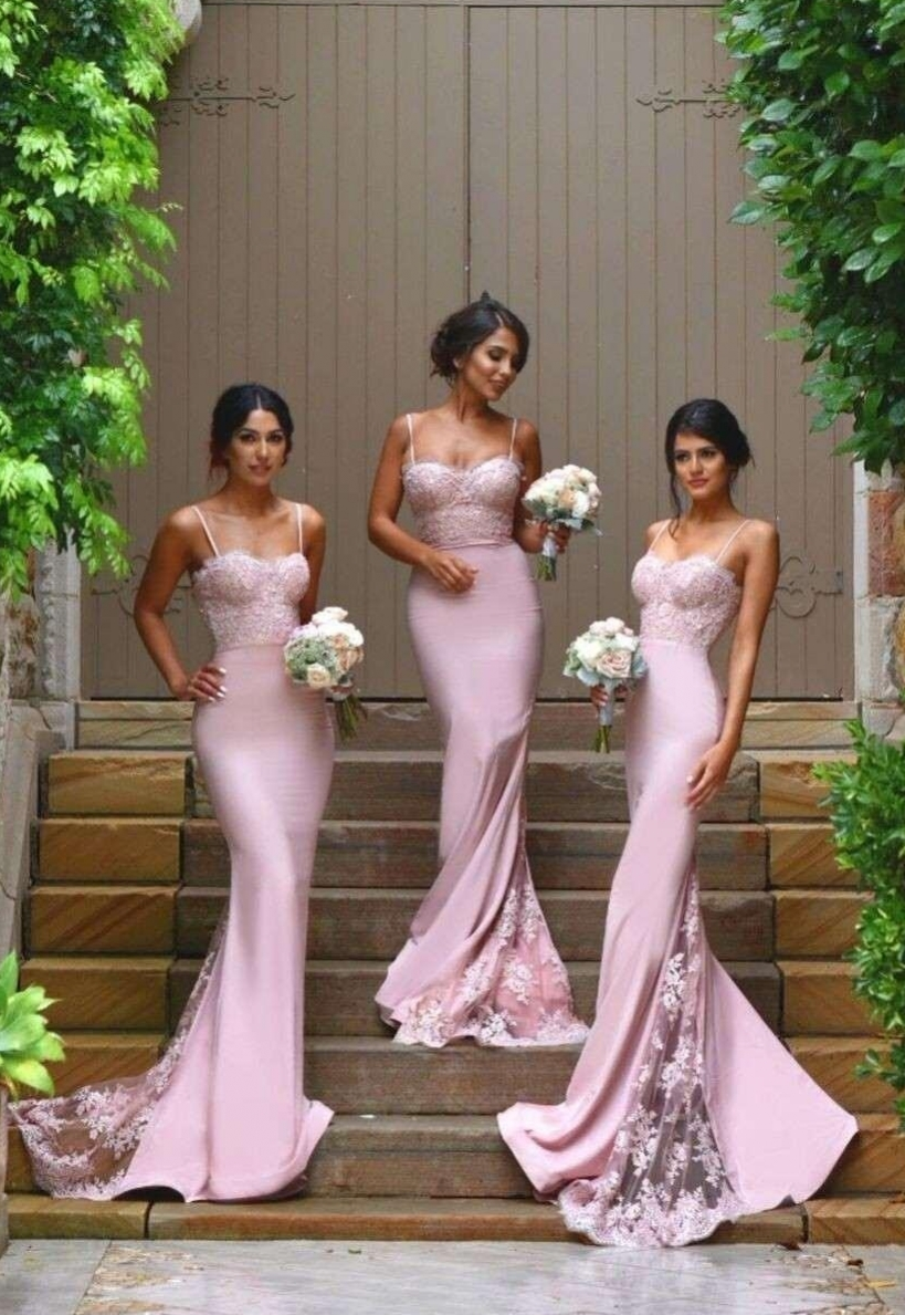 Africa Backless Wedding Bridesmaid Gowns Lace Sleeveless Bridesmaid Dresses 2019 Fishtail Bridesmaid Gowns