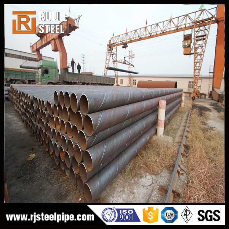 Spiral welded steel pipes manufacturer/Oil and Gas large diameter carbon welded steel spiral pipe