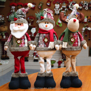 Standing scalable snowman santa and deer christmas decorations