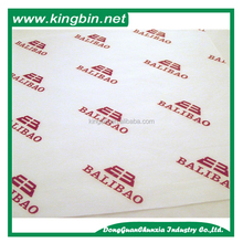 Logo label printing wrapping tissue paper custom design packing paper