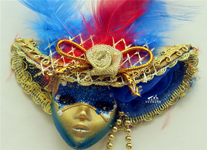 Stock wholesale Italy Venetian mask tourist souvenir fridge magnet
