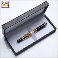 Customized promotional cardbord gift box metal fountain pen