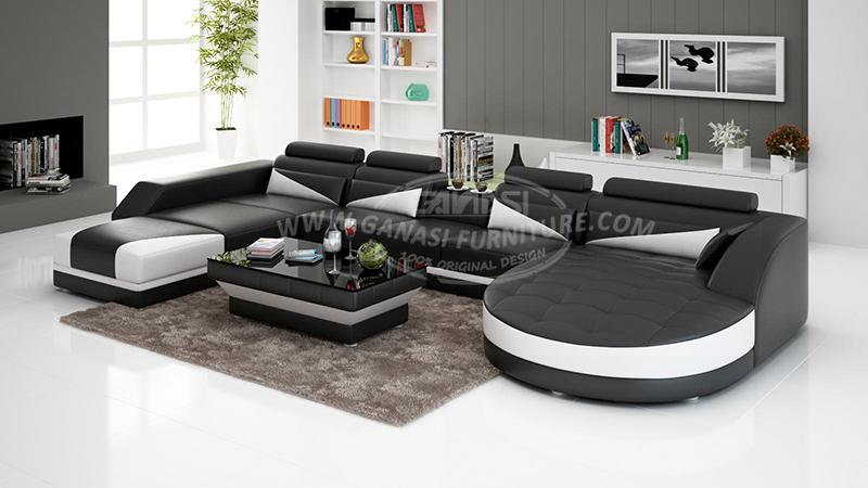 GANASI Furniture Sofa Lounge G8018 (2) ... & GANASI modern sofa setfurnitureliving room furniture View living ...