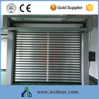 China manufacturer PU foaming Rigid Rolling Shutter Door