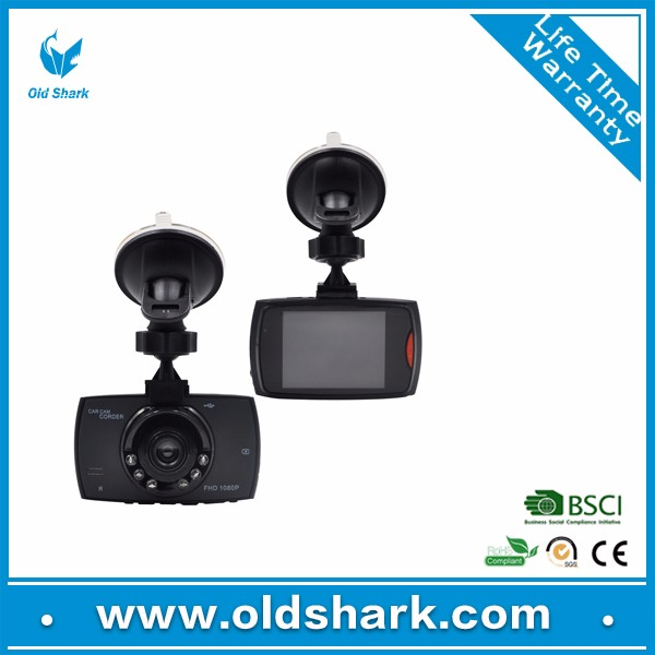 1080p HD Dual Lens Dashboard Car DVR Dash Cam and Rear View Camera Accident Recording System with Night Vision