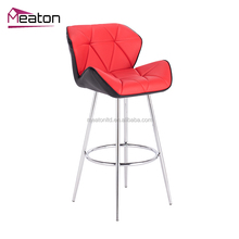 Bar Height Chair And Bar Stool Color Adjustable Height Metal Chair / Faux Leather Swivel Kitchen Counter Bar Stools CL - 3227