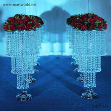 2018 LED light Romantic crystal wedding decoration with party centerpiece celebration wedding vase for party stand (MCP-051)