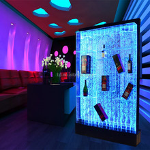 Home living room muebles led display gabinete del vino