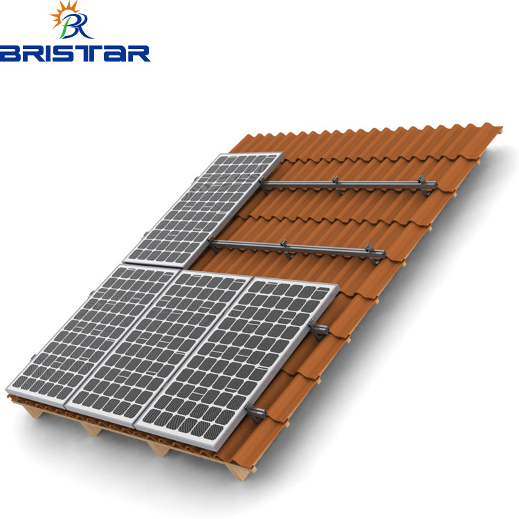 Solar Panel Mounting Aluminum,Carbon Steel Rails For Pitched Tile Roof Mounting System