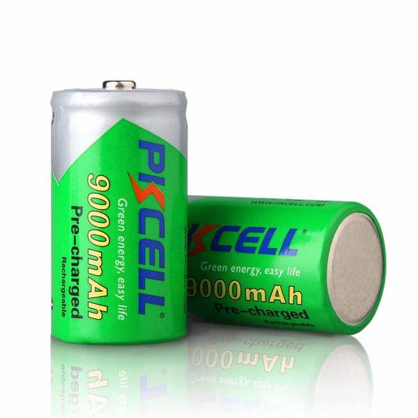 Low Self-discharge1.2V Rechargeable Battery D NIMH 9000mAh for Torch Light
