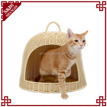 2015 New Design Cheap Fashion Rattan Wicker Small Cage Bed Cat House