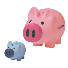 Hot sale Customized Pig Shaped Plastic Piggy Coin Bank