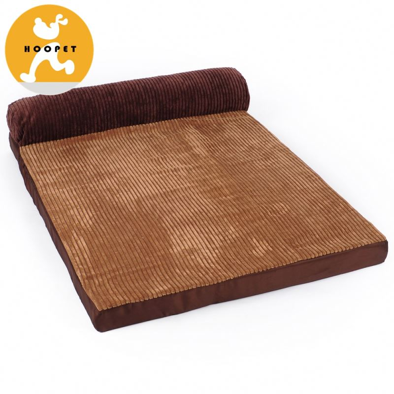 Luxury Large Brown And Red Memory Foam Dog Bed For Pet