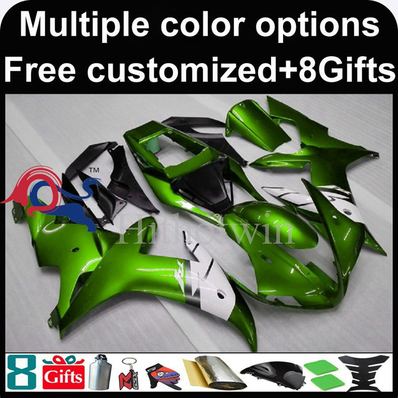 green motorcycle cowl for Yamaha YZF-<strong>R1</strong> 2002-2003 <strong>02</strong> <strong>03</strong> YZFR1 2002 2003 <strong>02</strong>-<strong>03</strong> ABS Plastic Fairing