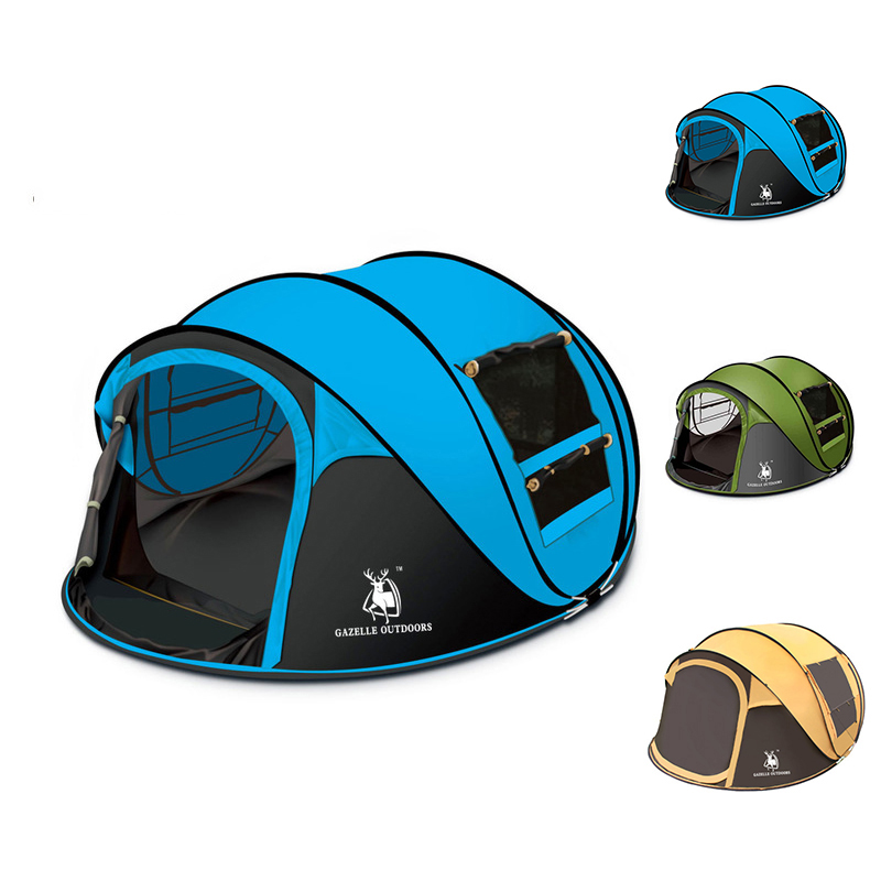 High Quality Automatic Speed Open Throwing Pop Up Windproof Outdoor Large Family Camping <strong>Tent</strong>