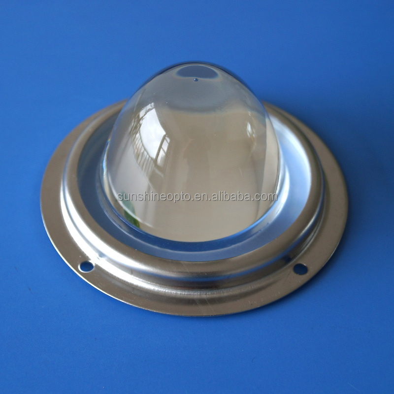 45 degree 78mm Optical plano convex led glass lens