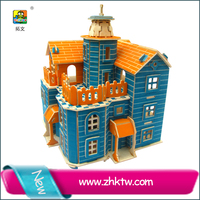 2016 Latest DIY toy kids happy 3d puzzle doll house for sale