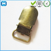 Factory Supply OEM Mini Metal Suspender Clips Ribbon Clips