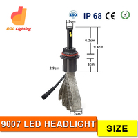 New led headlight 9007 replace xenon hid kit !!!!! hot sale 12v 24v 120w 6000K H1 H3 H4 H6 H7 H8 H9 H10 H11 H13 h/l bulb