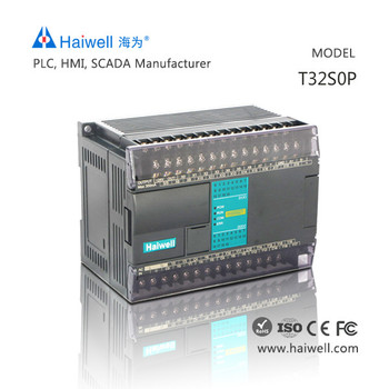 PLC Haiwell T32S0P 32 IO points touch screen PLC controller automation