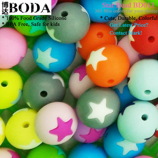 BODA The first hand maximum discount silicone teething beads for jewelry