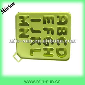 Silicone Custom Letter Shape Ice Cube Tray