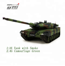 DWI Dowellin 2.4Ghz Remote control RC Tank 1:16 Henglong with Smoke