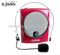 Portable waistband amplifier microphone speaker with Mp3 function, USB function, TF/SD card function