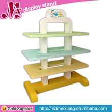 MX-WB037 retail mdf wooden shoes display rack / shoes shop display