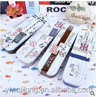 wholesale pencil case British royal navy designs tinplate material good for boy gift
