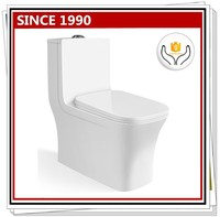 9182 Hot selling! Siphonic one piece toilet bowl for hotell or bathroom design