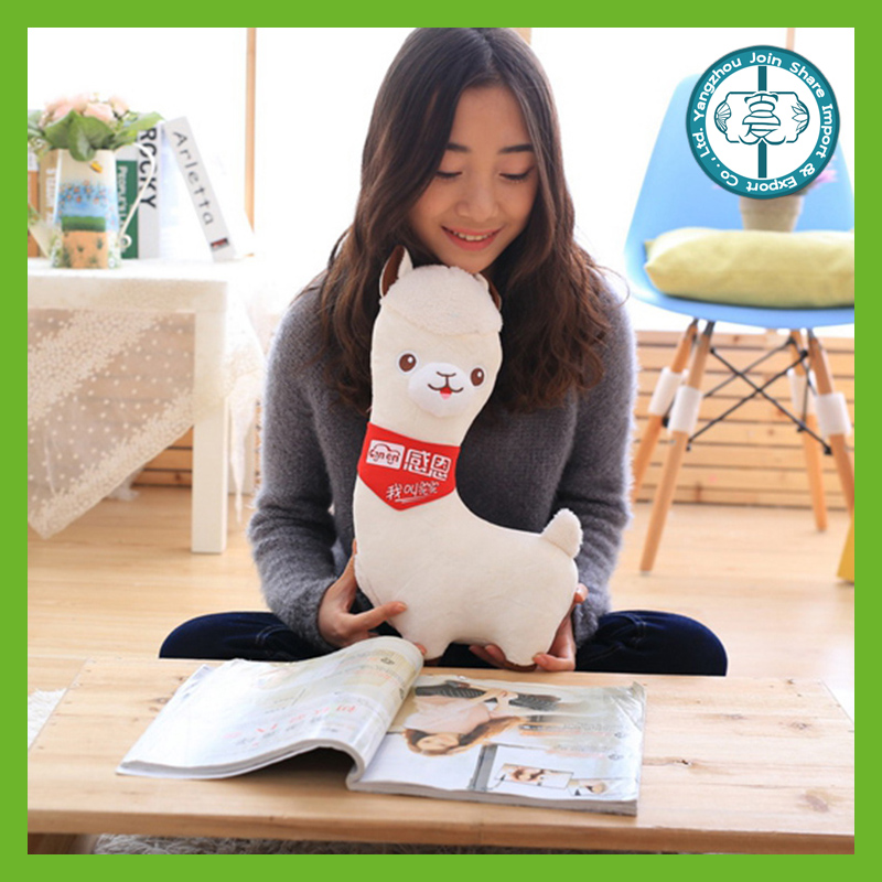 Promotional cuddly soft plush best made cute alpaca stuffed animal for children toys
