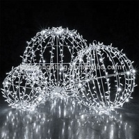 Christmas large outdoor led sphere waterproof ball light ,outdoor hanging light balls