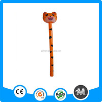 Plastic pvc inflatable animal stick tiger toy