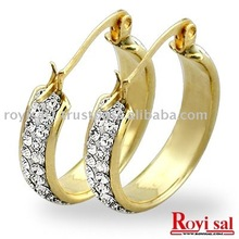 Gold Crystal Hoop Earring Jewelry: Fashion Earring