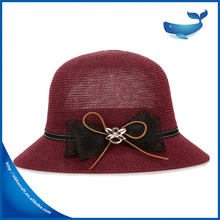 Hot new products for Spring and summer Hollow papyrus bowler hat fashion hat flanging lady hate para straw hat and cap cust