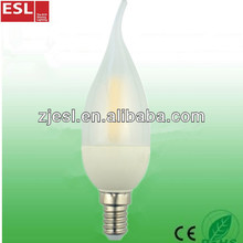 2016 hot-selling led filament bulb 2.2W 110lm/w led candle bulb made in china alibaba