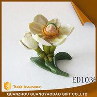 Folk Art pure white flower genius statue souvenir items gift item