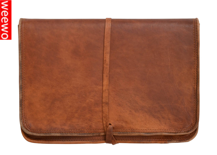 Genuine Leather Bag Pouch Sleeve Case Cover For Apple Macbook Air 11 11.6 11.6'' 12 inch