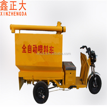 Energy battery drive automatic feeding car for pig cow chicken