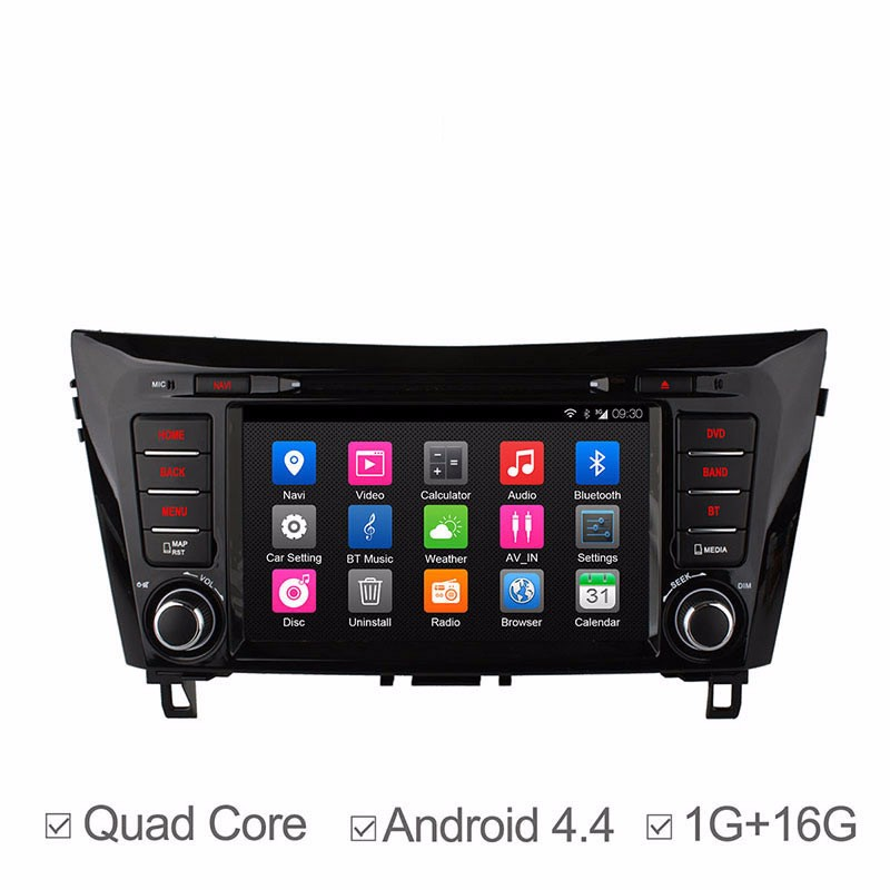 Quad Core Android4.4 Car DVD player support dab+ WiFi 3G GPS 8'' 2 din Radio auto Stereo For Q/ashQ/ai X-T/rail 2014