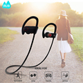 Lowest price sport handfree wireless earphones with mic and volume control wireless bluetooth headphone RU9