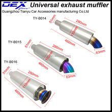 automobile racing universal hks power exhaust pipe muffler