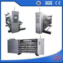 Corrugated carton big size flexo printing slotting and die cutting machine