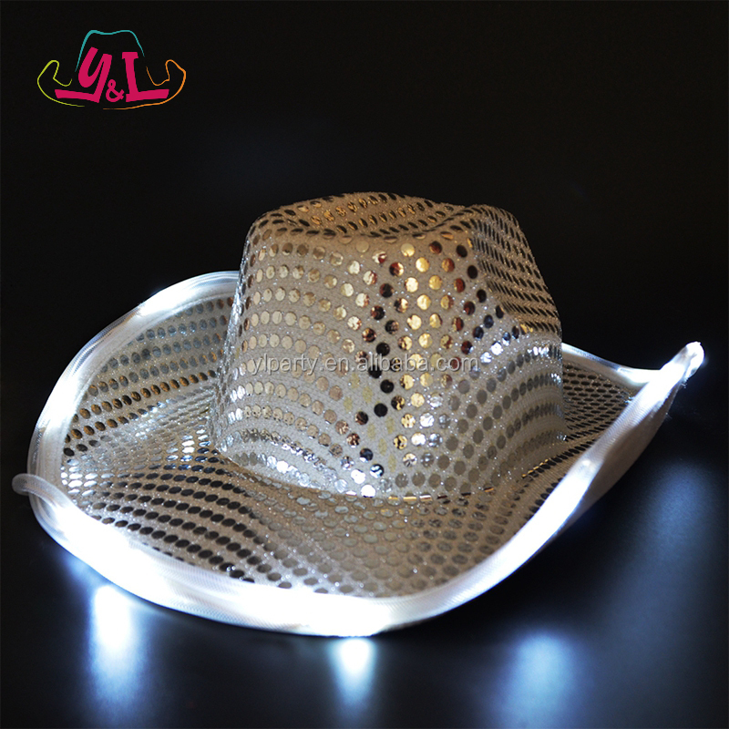 2016 Fashion Accessory Led Night Light Hat Glow In The Dark Party Supplies
